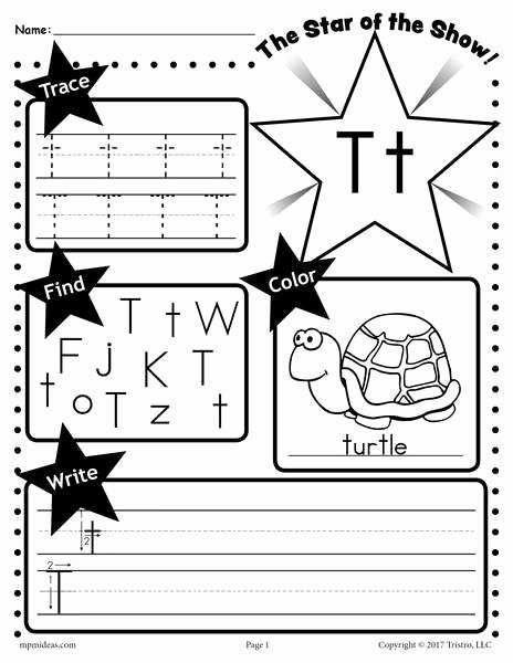 Letter T Worksheets for Preschoolers Inspirational Letter T Worksheet Tracing Coloring Writing & More