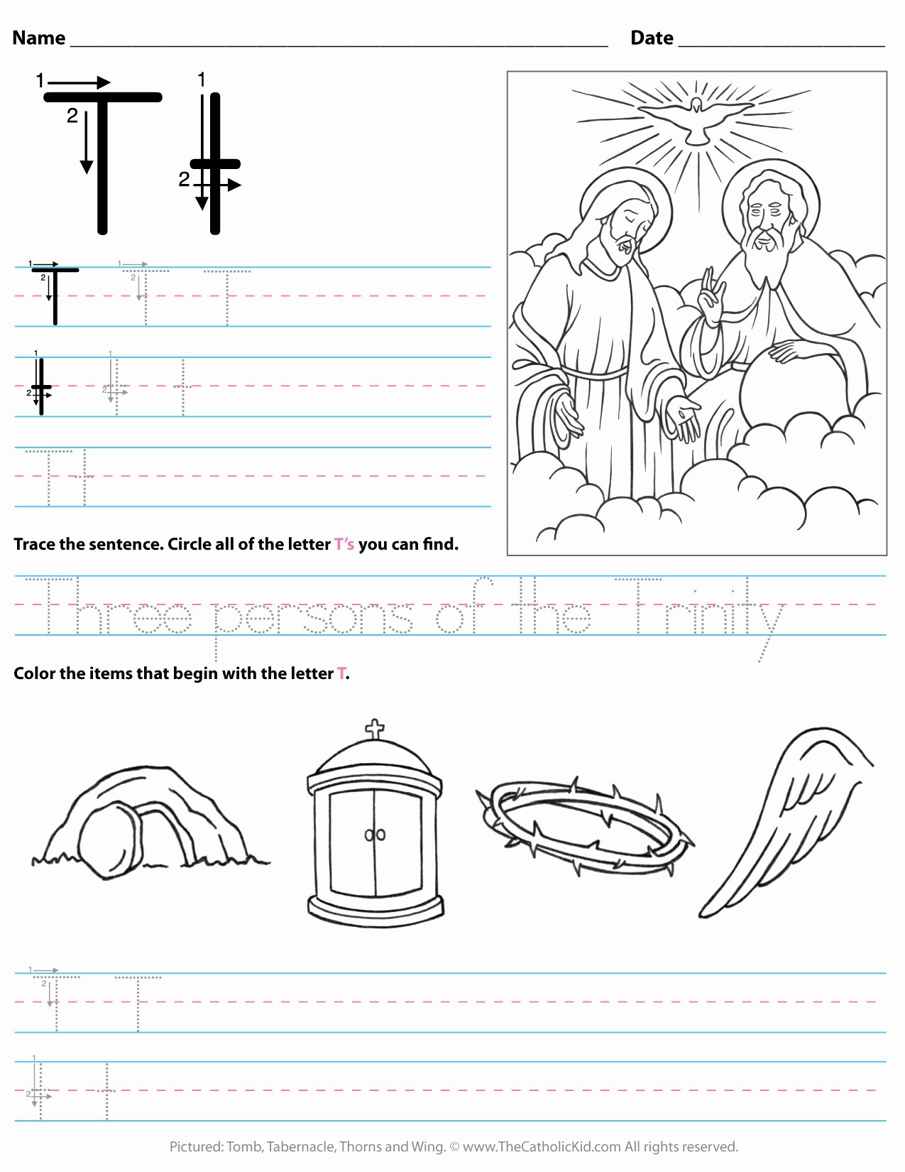 Letter T Worksheets for Preschoolers Lovely Math Worksheet Catholic Alphabet Letter T Worksheet