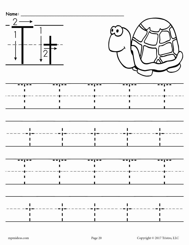 Letter T Worksheets for Preschoolers New Printable Letter T Tracing Worksheet