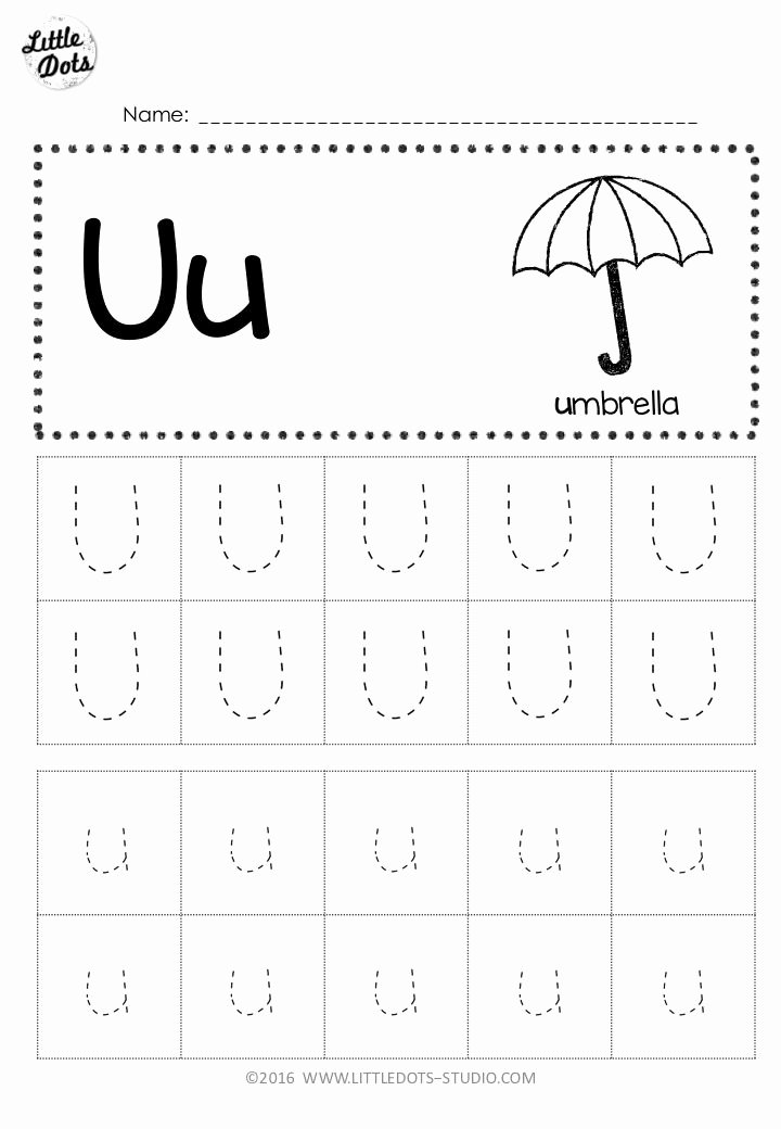 Letter U Worksheets for Preschoolers Inspirational Free Letter U Tracing Worksheets
