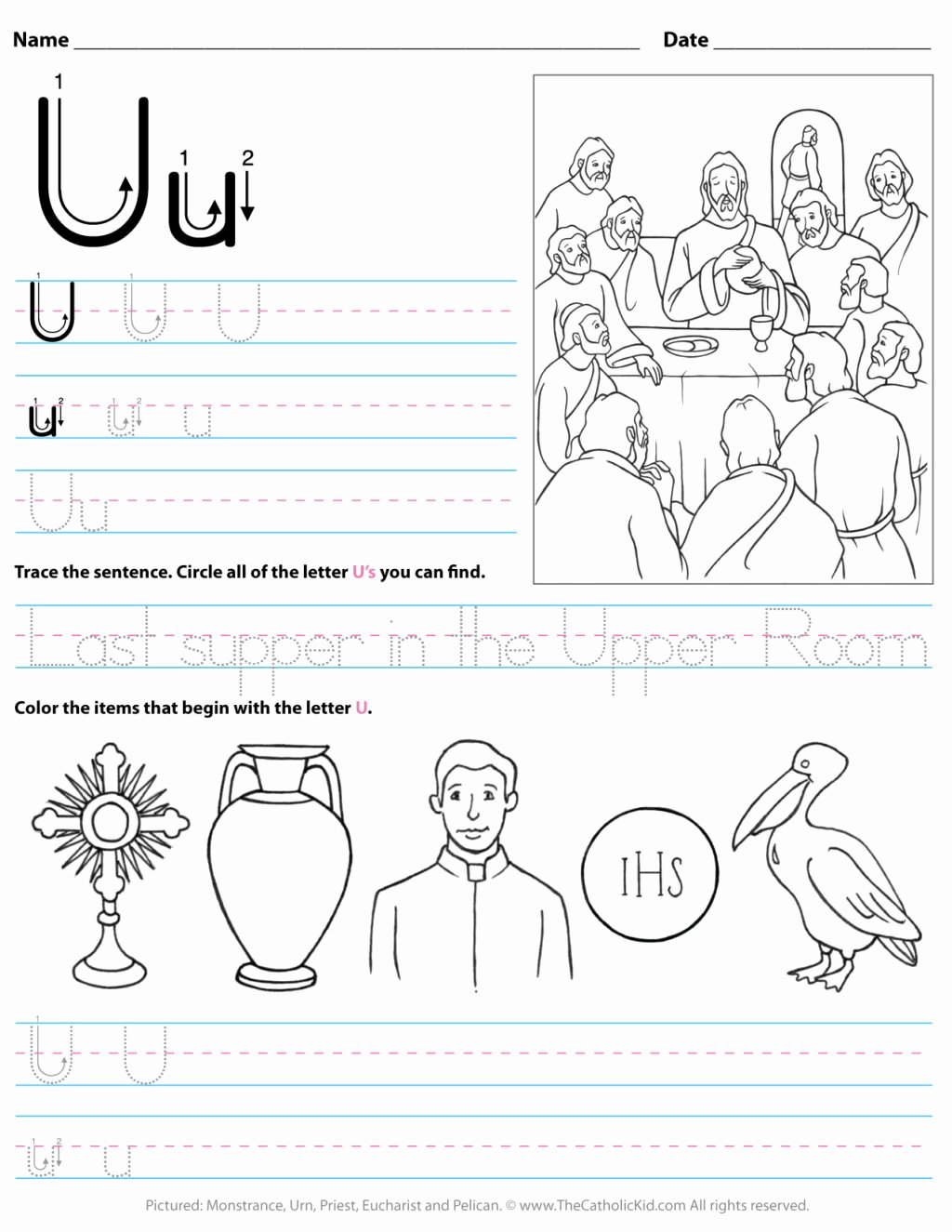 Letter U Worksheets for Preschoolers Lovely Worksheet Catholic Alphabet Letter U Worksheetchool