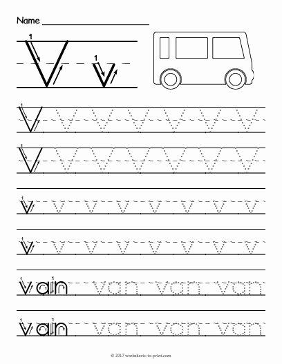 Letter V Worksheets for Preschoolers Inspirational Free Printable Tracing Letter V Worksheet