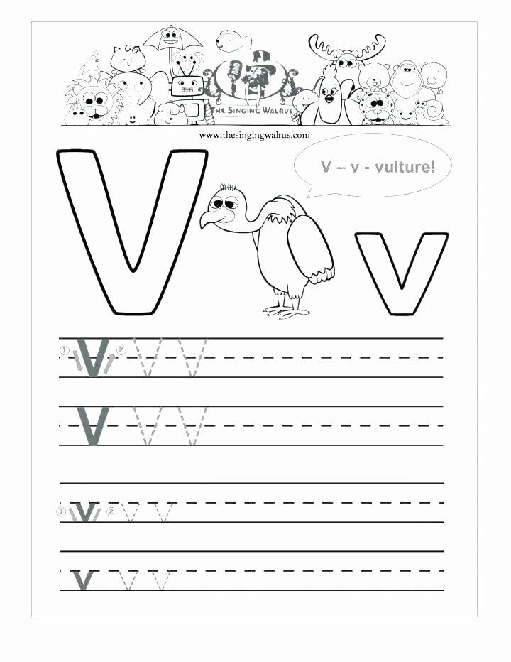 Letter V Worksheets for Preschoolers New 12 Learning the Letter V Worksheets