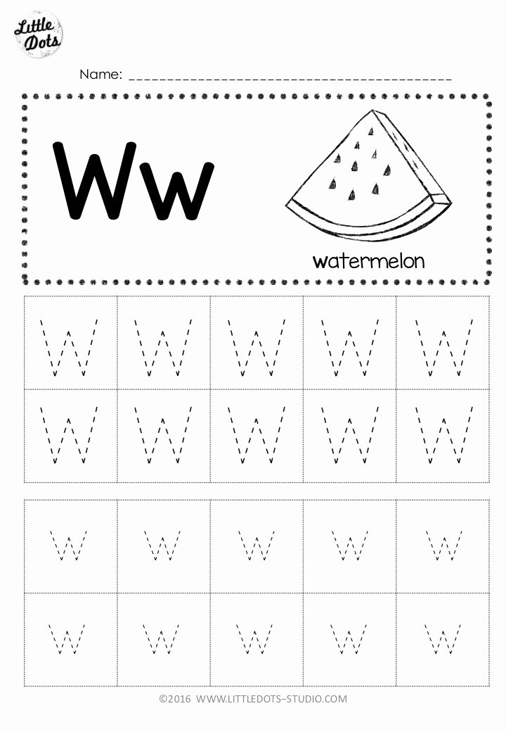 Letter W Worksheets for Preschoolers Lovely Free Letter W Tracing Worksheets