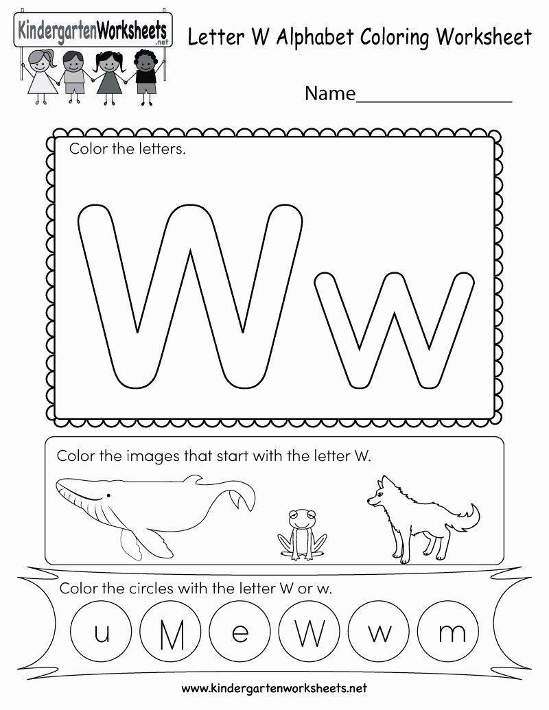 Letter W Worksheets for Preschoolers top Letter W Worksheets