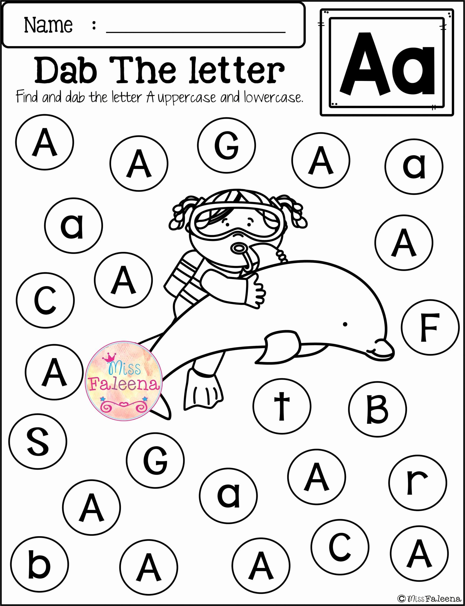 Letter Worksheets for Preschoolers Fresh Worksheets Free Alphabet Worksheets Preschool Letter