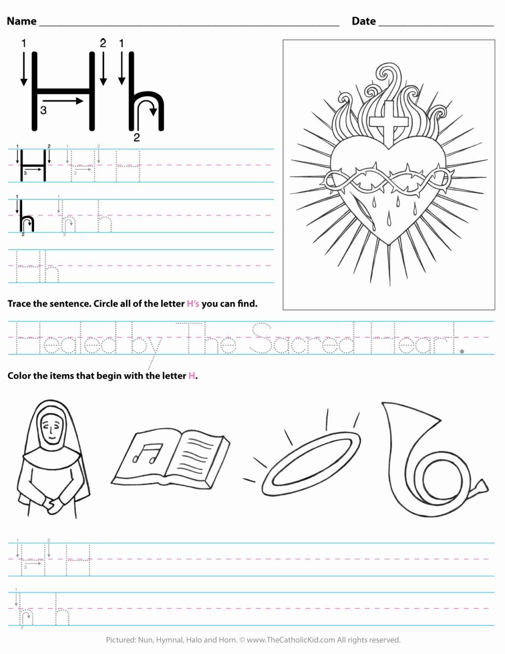 Letter Worksheets for Preschoolers New Worksheet Preschool Letter Worksheets Free Printable