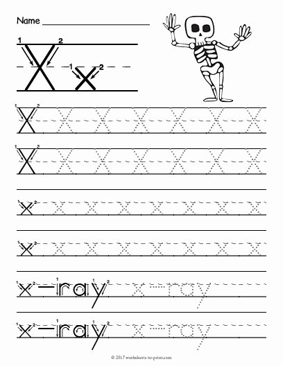 Letter X Worksheets for Preschoolers Awesome Free Printable Tracing Letter X Worksheet