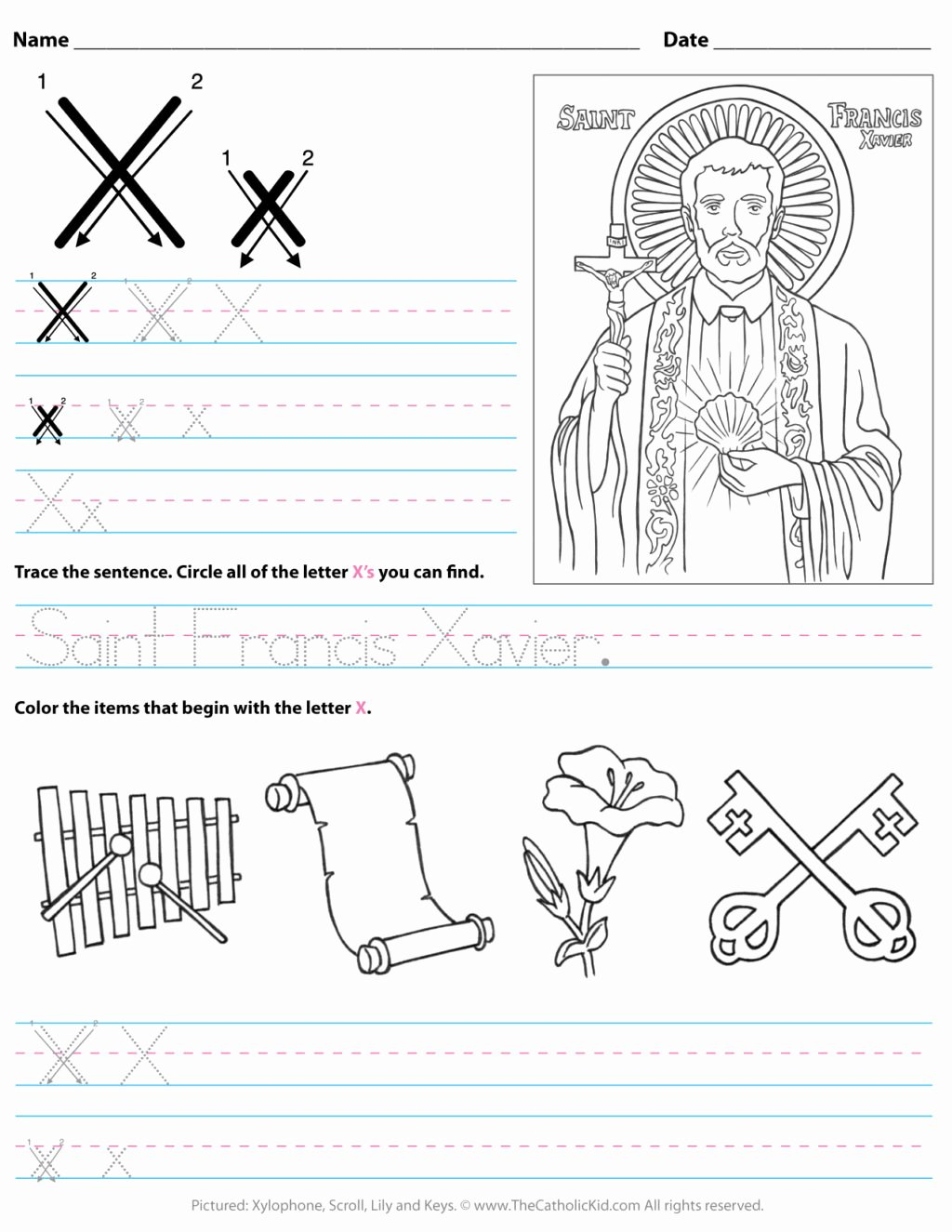 Letter X Worksheets for Preschoolers Beautiful Worksheet Catholic Alphabet Letter X Worksheet