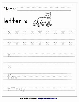 Letter X Worksheets for Preschoolers Fresh Letter X Worksheets Recognize Trace & Print