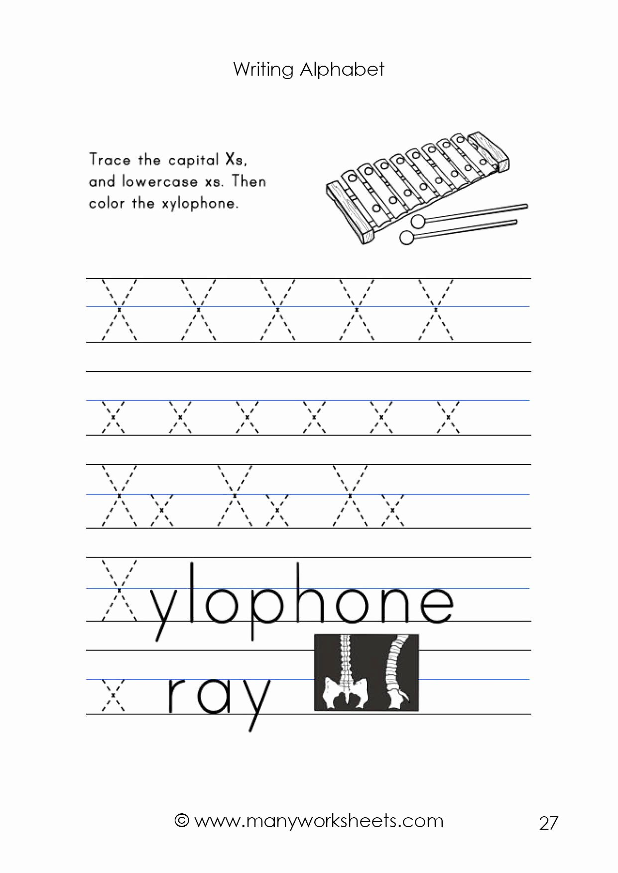 Letter X Worksheets for Preschoolers Inspirational Letter X Worksheet – Tracing and Handwriting