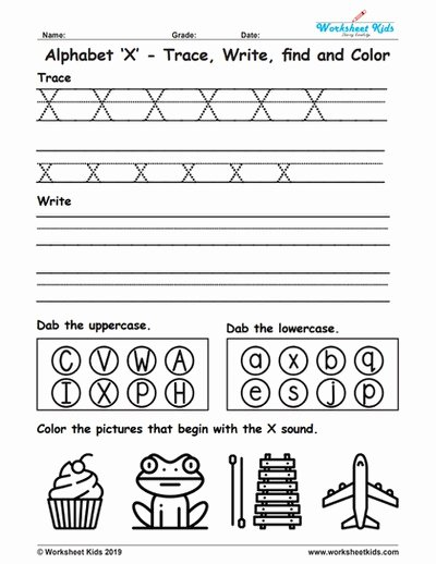 Letter X Worksheets for Preschoolers Lovely Alphabet Letter X Trace Write Find Color Free Printable Pdf