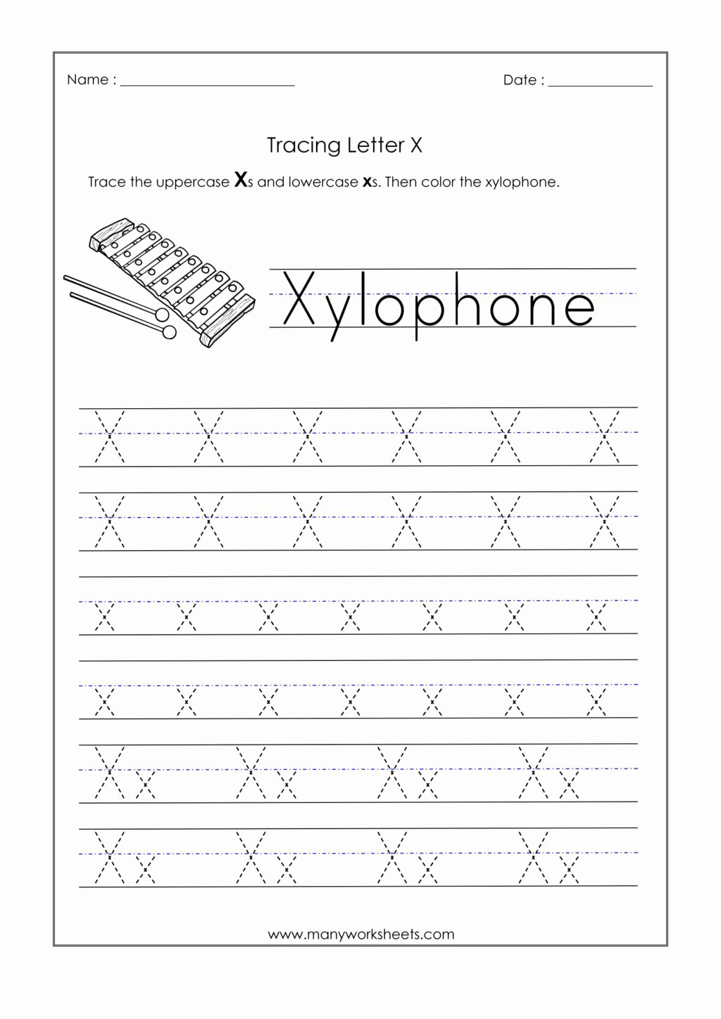 Letter X Worksheets for Preschoolers Lovely Worksheet Alphabetiting Sheets Letter X Tracing Worksheet