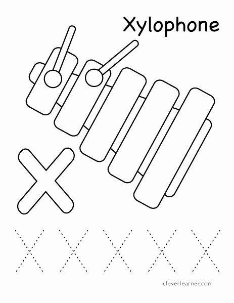 Letter X Worksheets for Preschoolers top Letter X Writing and Coloring Sheet