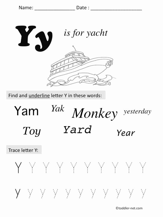 Letter Y Worksheets for Preschoolers New Free Printable Letter Y Preschool Worksheet
