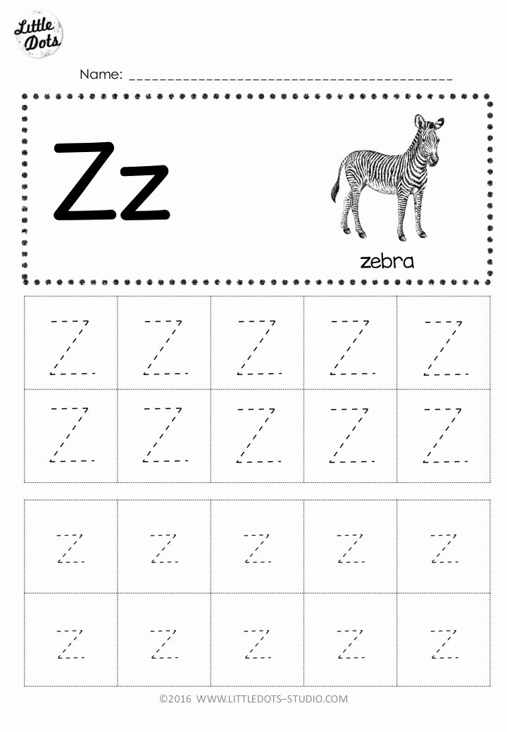 Letter Z Worksheets for Preschoolers Best Of Free Letter Z Tracing Worksheets