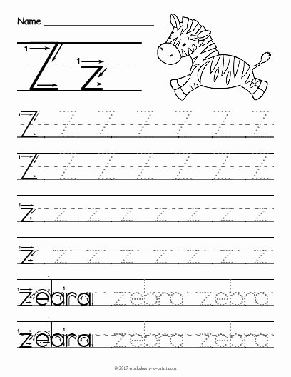 Letter Z Worksheets for Preschoolers Inspirational Free Printable Tracing Letter Z Worksheet