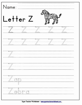Letter Z Worksheets for Preschoolers New Letter Z Worksheets Recognize Trace & Print