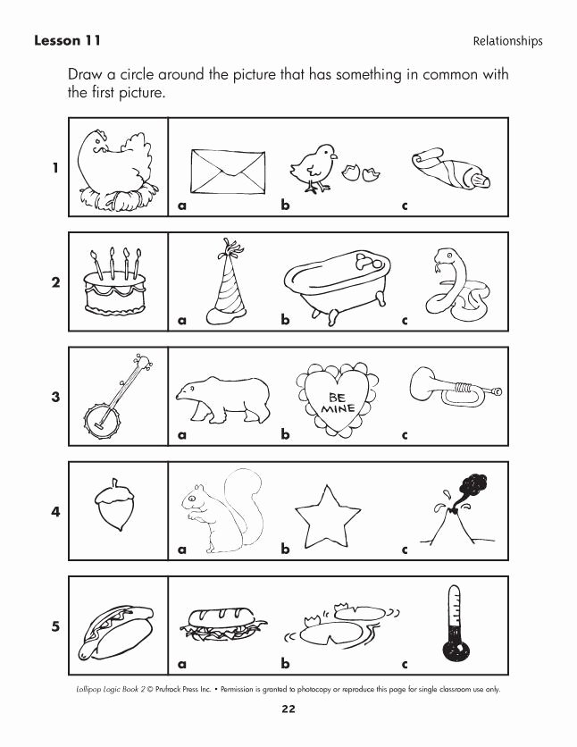 Logical Thinking Worksheets for Preschoolers Inspirational Lollipop Logic Critical Thinking Activities