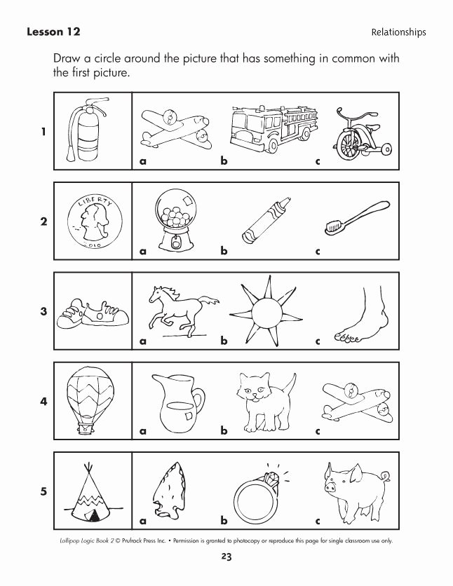Logical Thinking Worksheets for Preschoolers Lovely Lollipop Logic Critical Thinking Activities