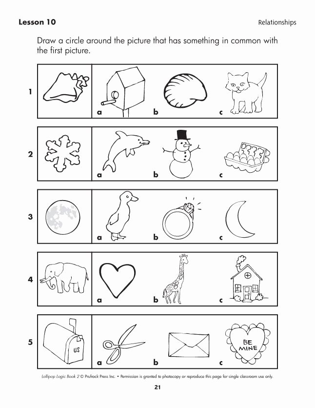 Logical Thinking Worksheets for Preschoolers New Lollipop Logic Critical Thinking Activities In 2020