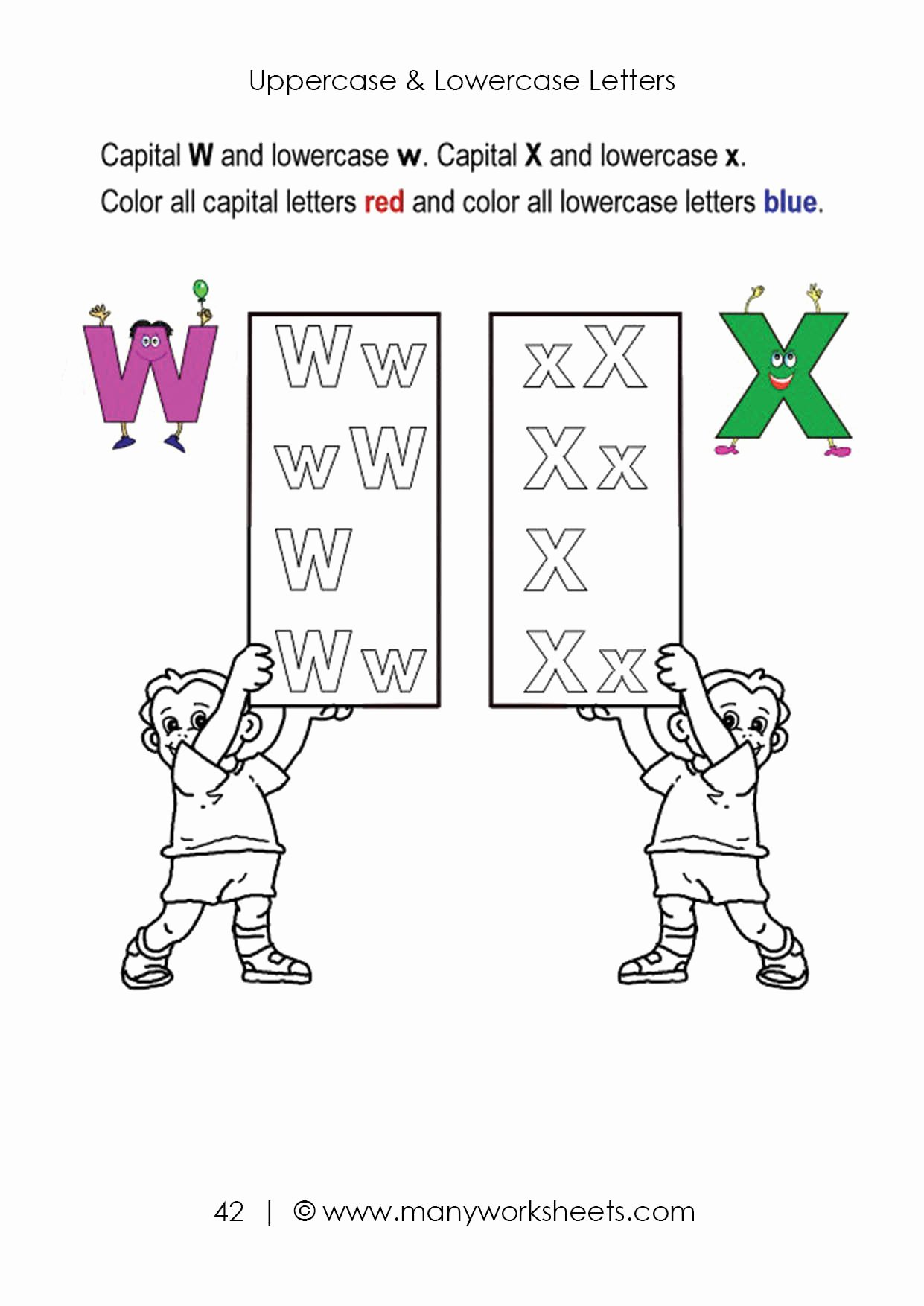 Lowercase Letters Worksheets for Preschoolers Beautiful Uppercase and Lowercase Letters Recognition Worksheet