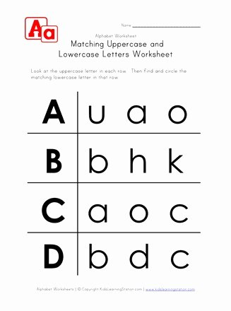 Lowercase Letters Worksheets for Preschoolers Fresh Letter Worksheets Uppercase and Lowercase A B C and D