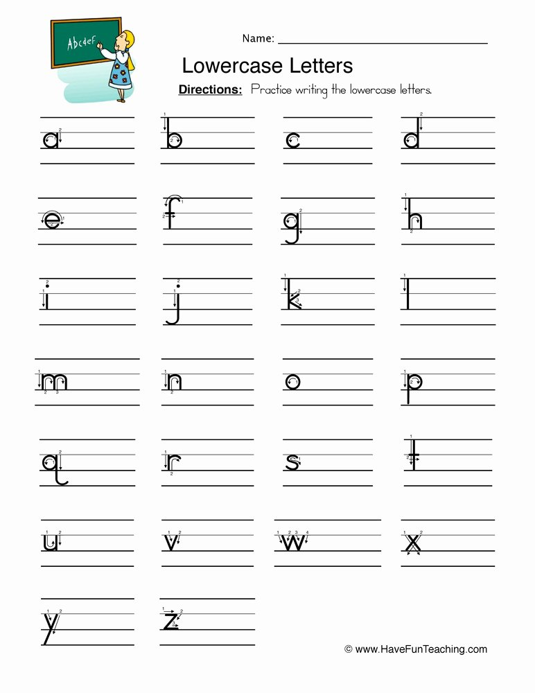 Lowercase Letters Worksheets for Preschoolers Inspirational Worksheet Lowercase Letters Worksheet Free Alphabet