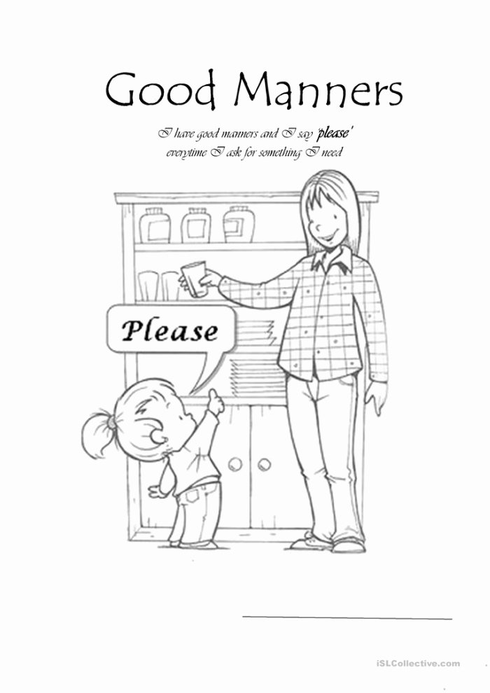 Manners Worksheets for Preschoolers Fresh Manners Worksheet Worksheets