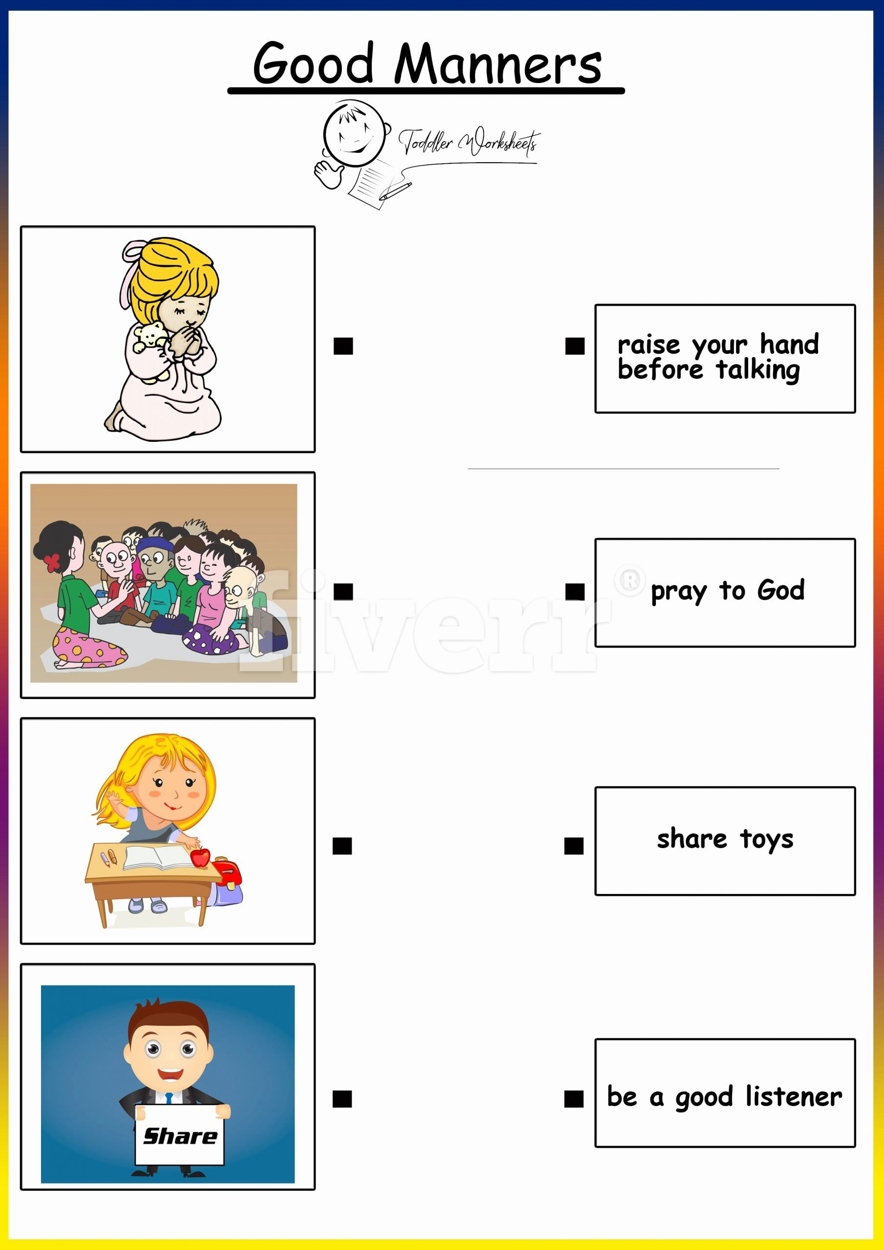 Manners Worksheets for Preschoolers Inspirational Preschool Free Worksheets Good Manners