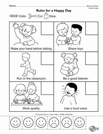 Manners Worksheets for Preschoolers Inspirational Rules for A Happy Day Lesson Plans the Mailbox