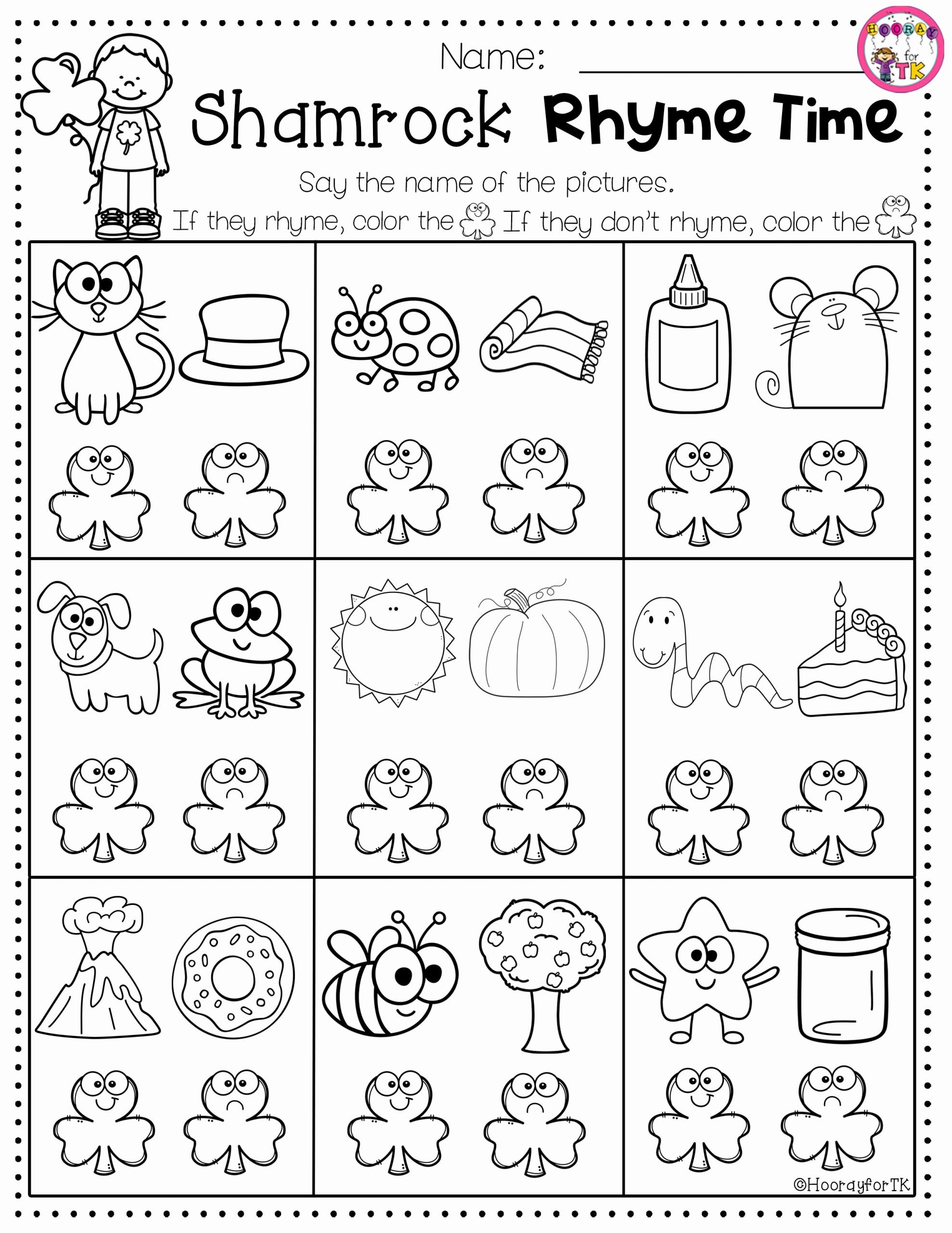 March Worksheets for Preschoolers Beautiful March and St Patrick S Day Worksheet In 2020