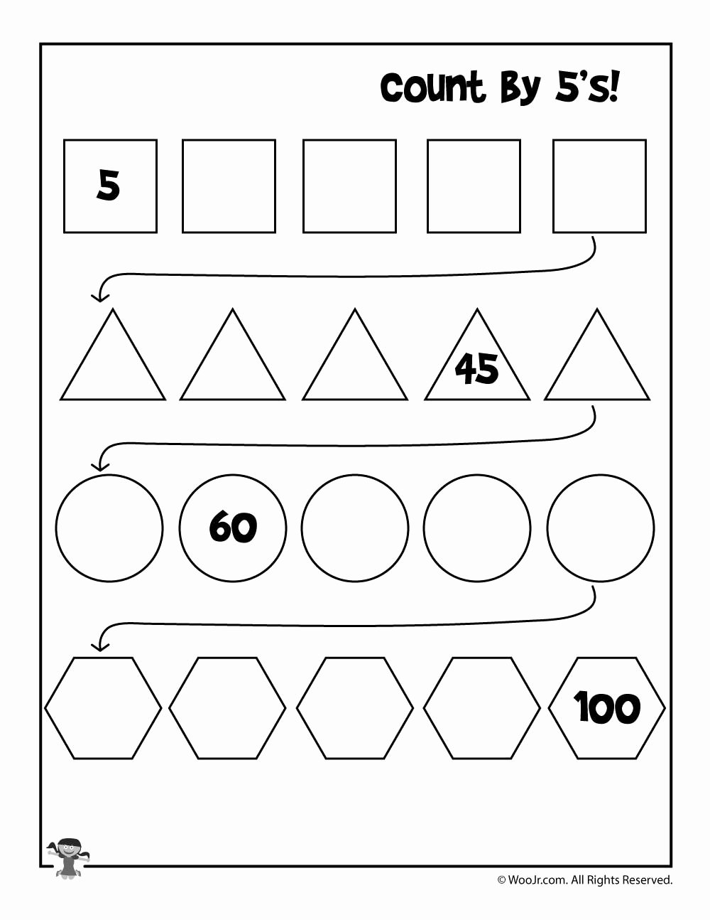 March Worksheets for Preschoolers Inspirational Worksheet Skip Counting Worksheets 5s Counting Worksheets