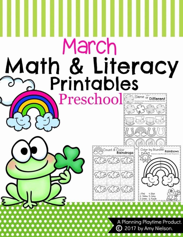 March Worksheets for Preschoolers top March Preschool Worksheets