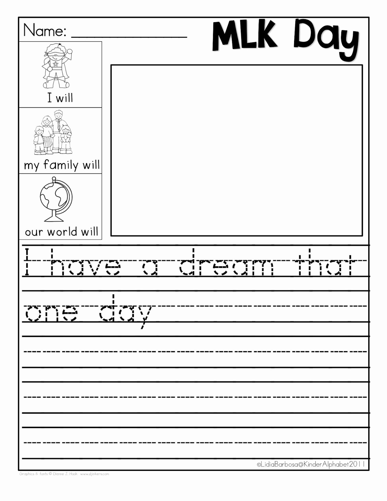 Martin Luther King Worksheets for Preschoolers Awesome Martin Luther King Jr Freebie I Have Dream Free Worksheets