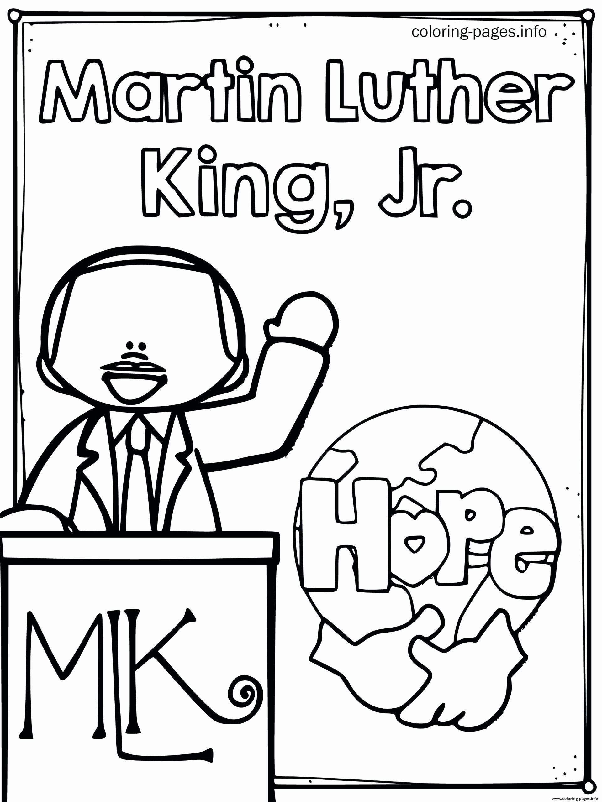 Martin Luther King Worksheets for Preschoolers Inspirational De6a Ec0303e01edfeae820b3b1 Coloring Printable Mlk Day