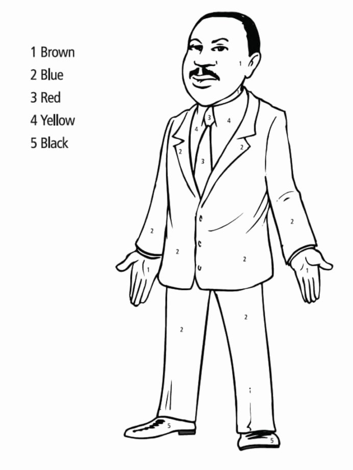 Martin Luther King Worksheets for Preschoolers Inspirational Mlk Coloring Free Printable Luther Jr Adding Numbers
