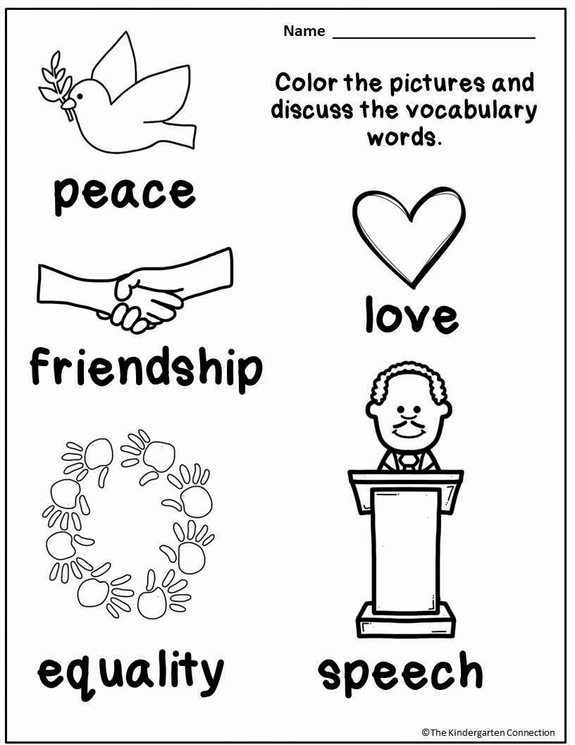 Martin Luther King Worksheets for Preschoolers top Free Martin Luther King Jr Printables and Read Alouds for