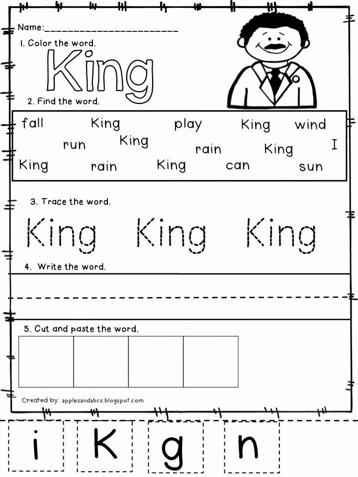 Martin Luther King Worksheets for Preschoolers Unique Apples and Abc S Winter Words Learn to Read and Write