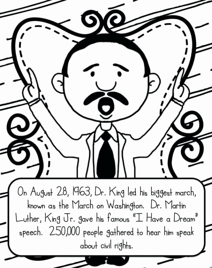Martin Luther King Worksheets for Preschoolers Unique Awesome Printable Luther Coloring Free Jr Mlk Pi Math