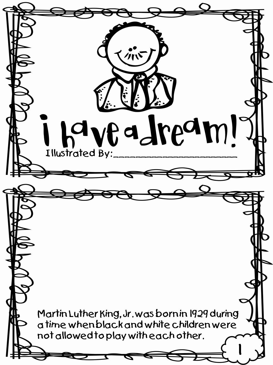 Martin Luther King Worksheets for Preschoolers Unique Martin Luther King Jr Dream Worksheet Coloring Pages