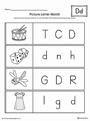 Matching Letters Worksheets for Preschoolers Lovely Worksheet Picture Letter Match Worksheet Kindergarten
