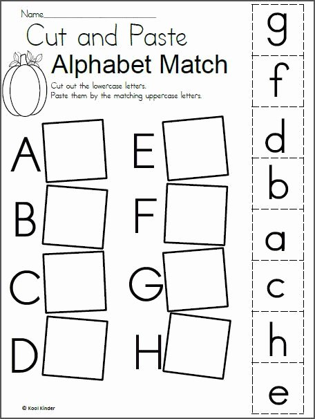 Matching Letters Worksheets for Preschoolers top Alphabet Match Worksheet for Fall Madebyteachers