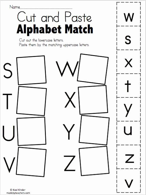 Matching Letters Worksheets for Preschoolers top Preschool Worksheets Matching Alphabets