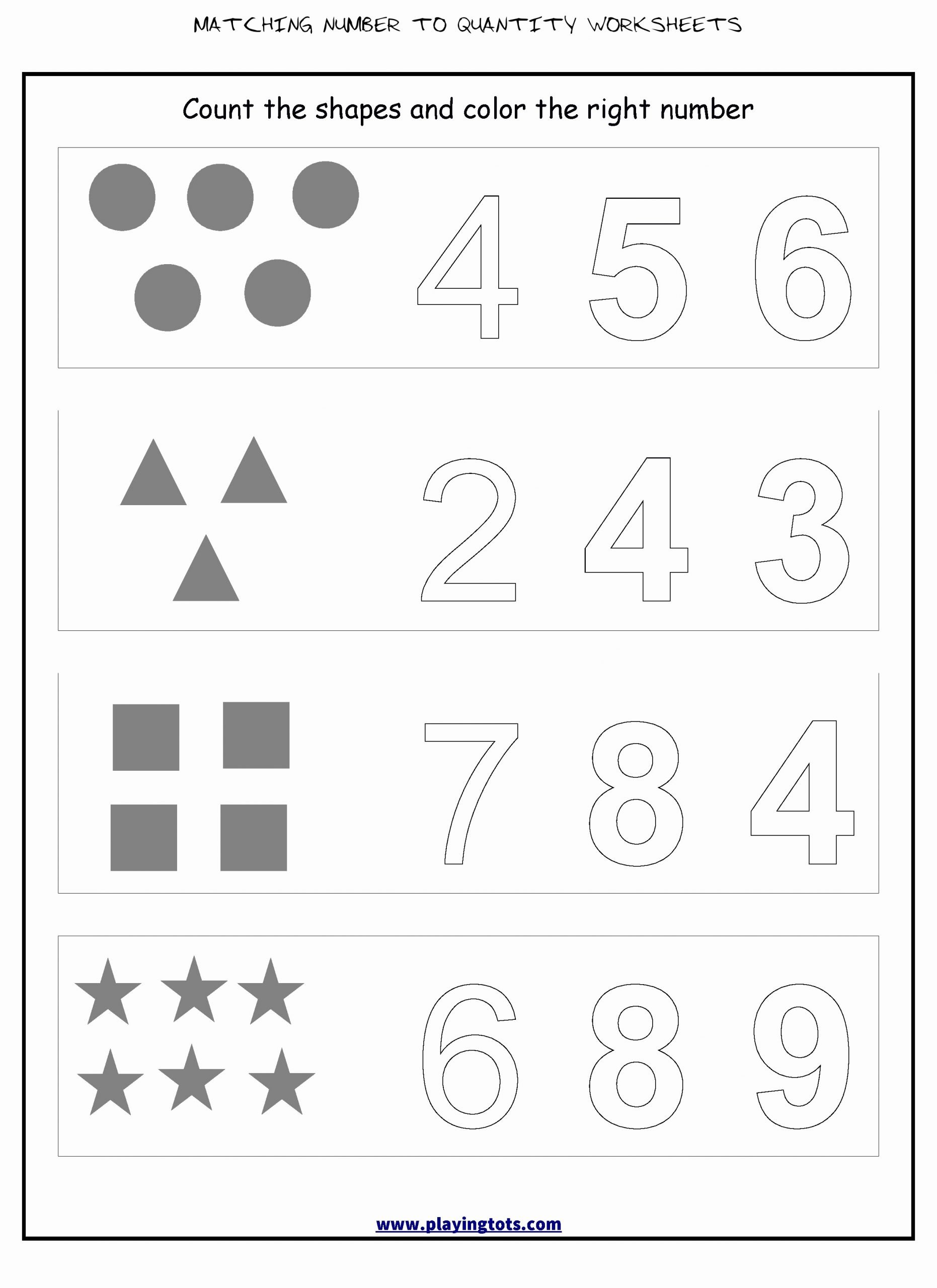 Matching Numbers Worksheets for Preschoolers Awesome √ 29 Matching Number to Quantity Worksheets