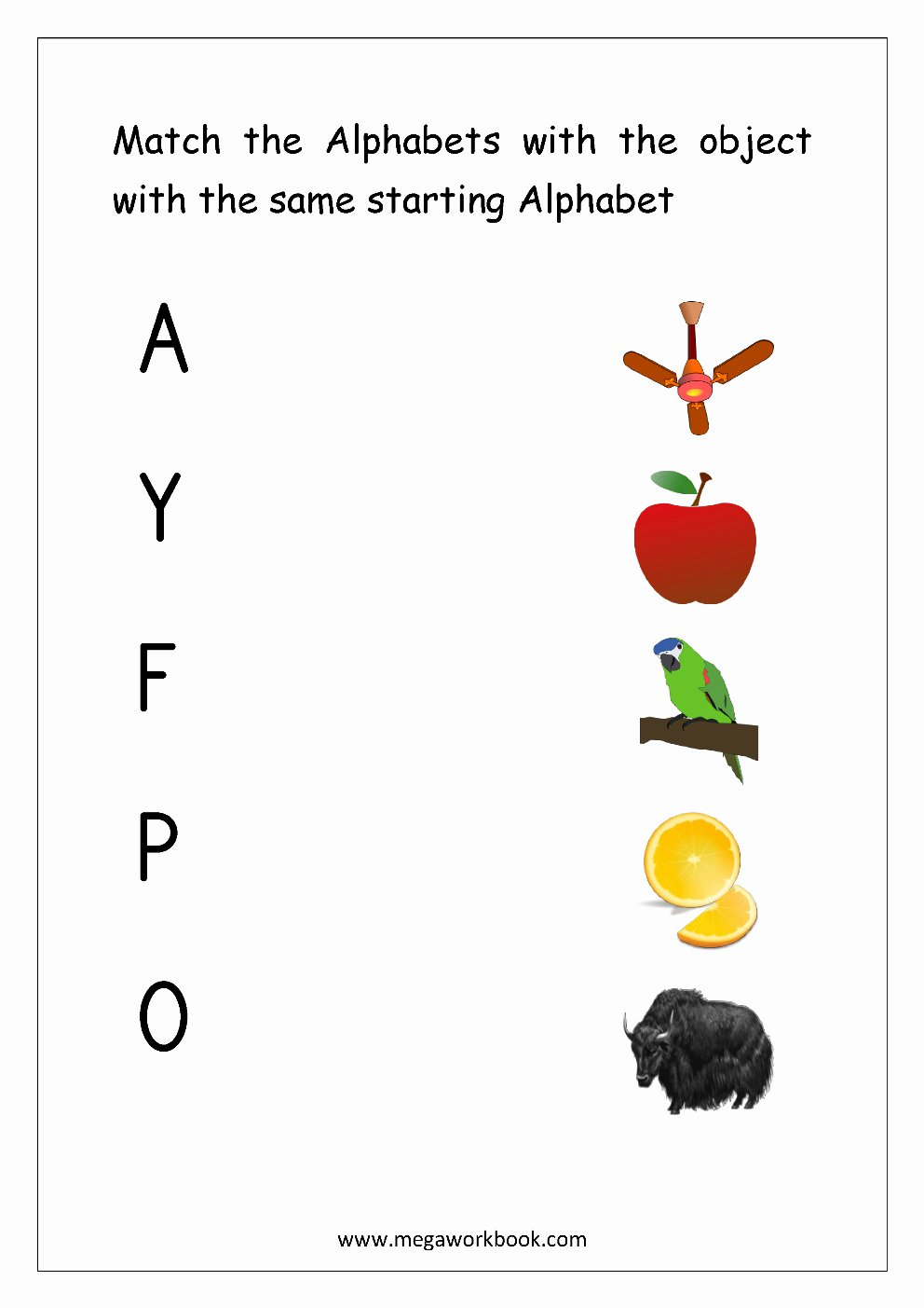 Matching Objects Worksheets for Preschoolers Awesome Letter Matching Worksheet Match Object with the Starting