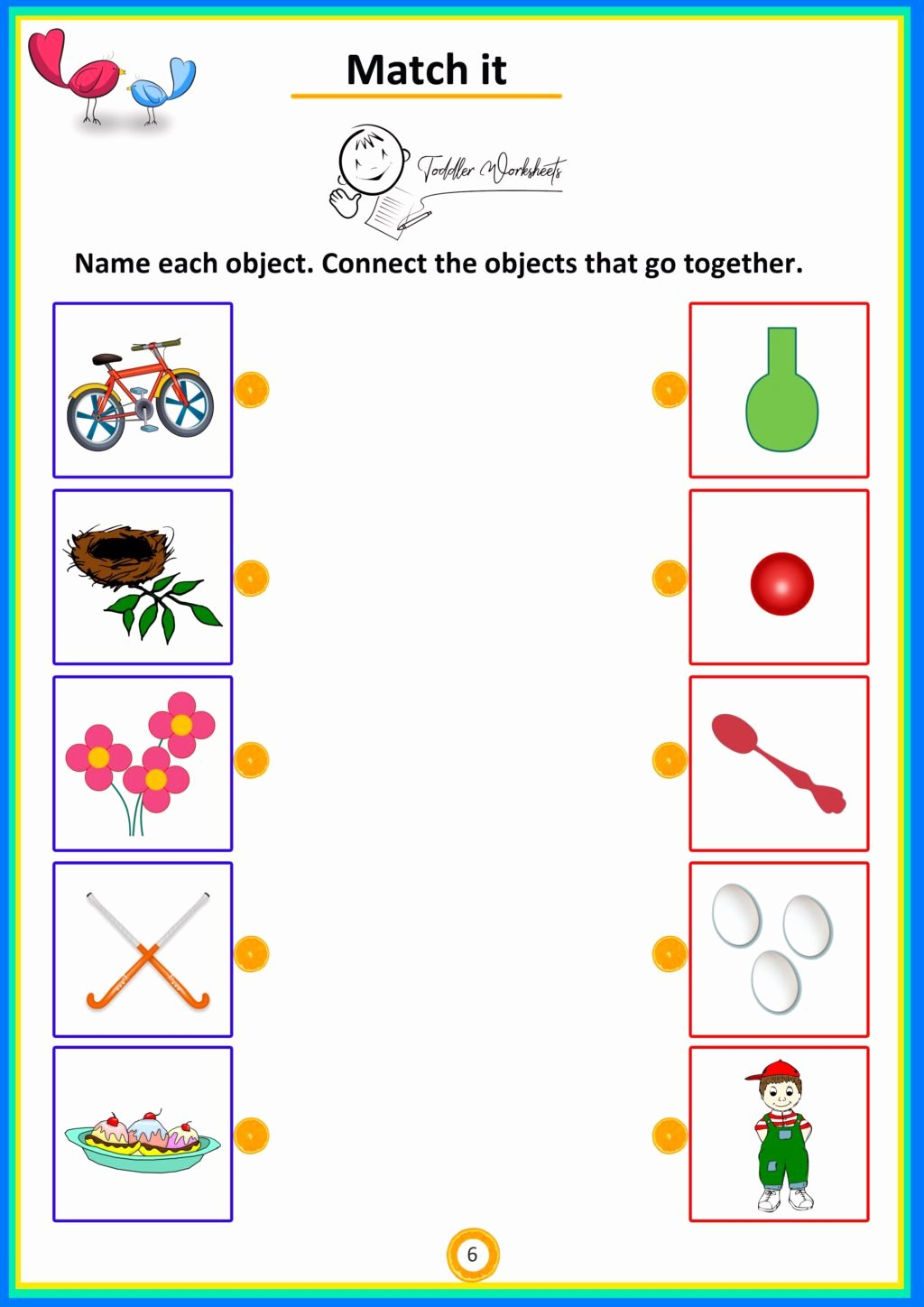 Matching Objects Worksheets for Preschoolers Unique Worksheet Worksheet Match It Objects toddlers Worksheets