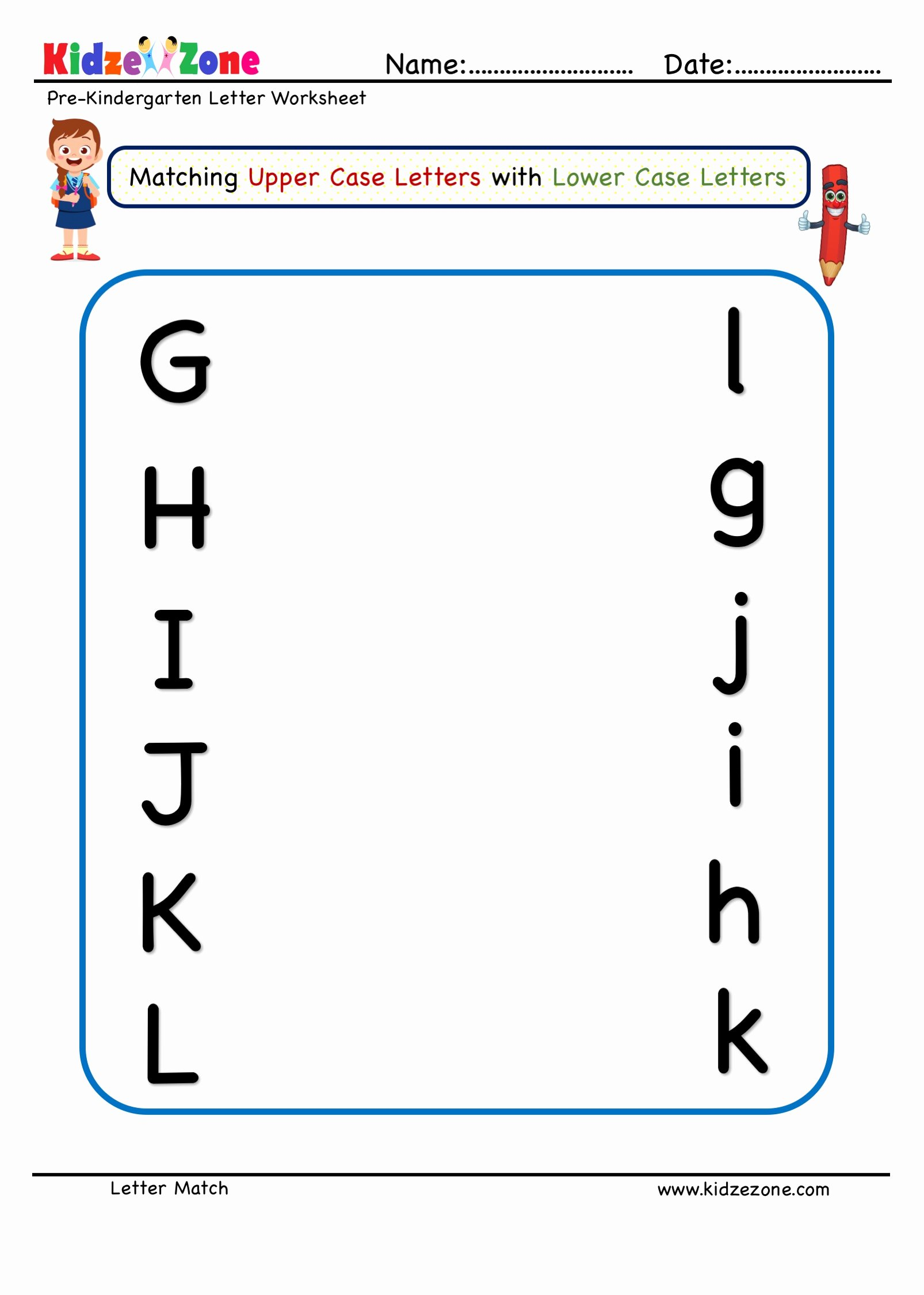 Matching Pictures Worksheets for Preschoolers Fresh Prekindergarten Letter Matching Worksheet Letters M to R