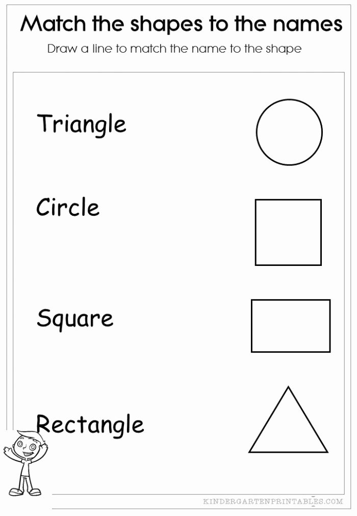 Matching Shapes Worksheets for Preschoolers Awesome Match the Shapes Worksheets