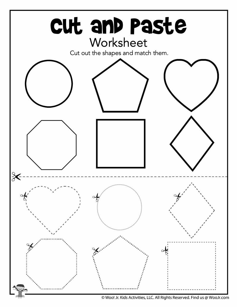 Matching Shapes Worksheets for Preschoolers Awesome Matching Shapes Worksheet for Preschooler